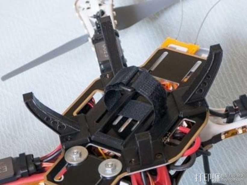多轴飞行器起落架 电池支架 3D模型  图2