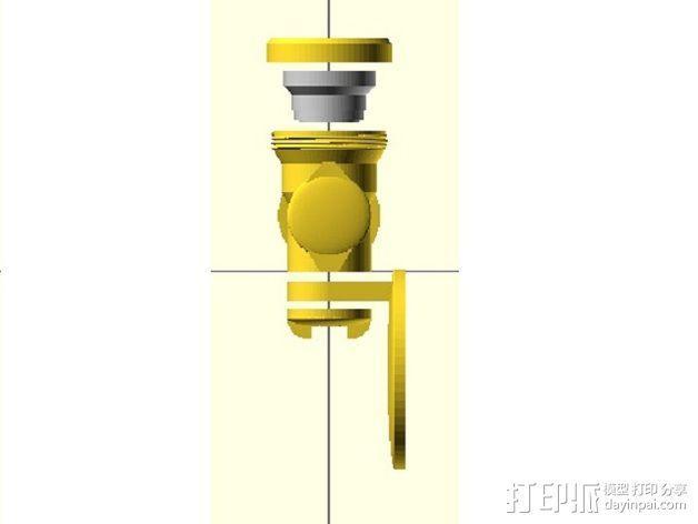 摩托车头盔 相机支架 3D模型  图6