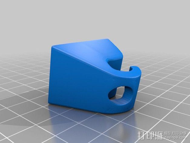 防晒板 挂钩 3D模型  图2
