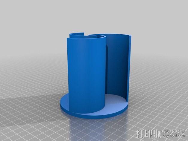 萨伏纽斯转子  3D模型  图2