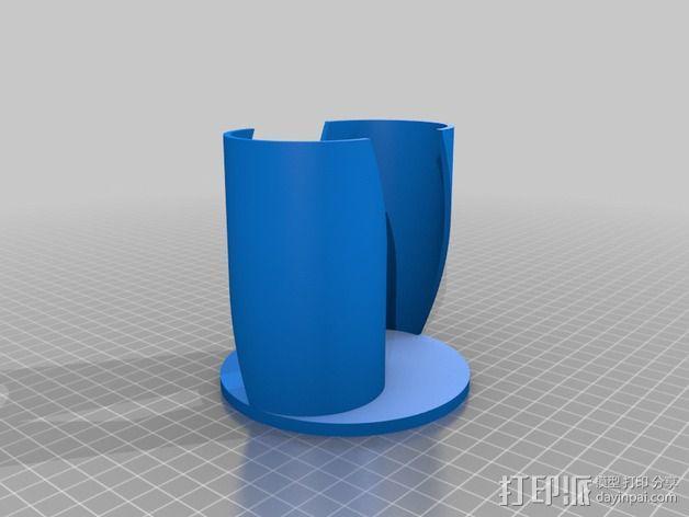 萨伏纽斯转子  3D模型  图3
