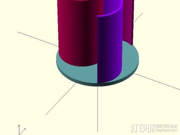 萨伏纽斯转子  3D模型  图7