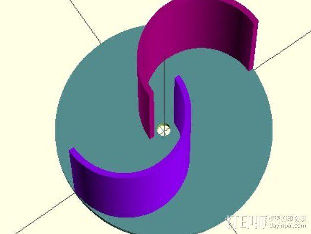 萨伏纽斯转子  3D模型  图4