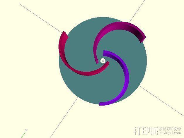 萨伏纽斯转子  3D模型  图5