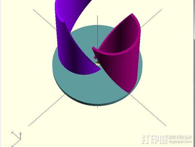 萨伏纽斯转子  3D模型  图6