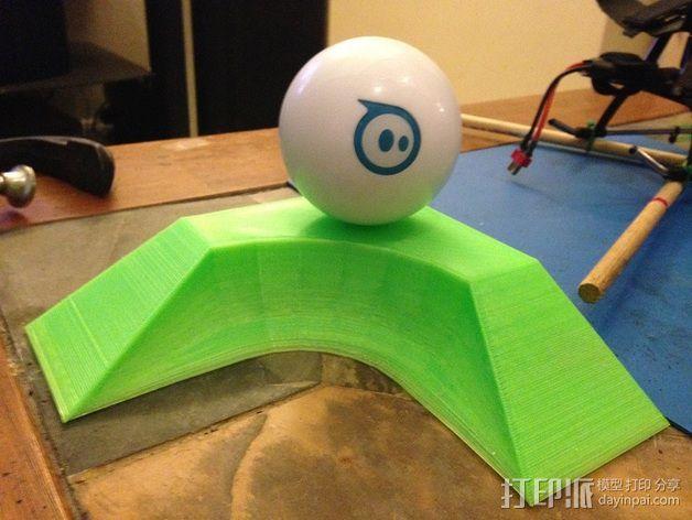 小球 L形底座 3D模型  图3