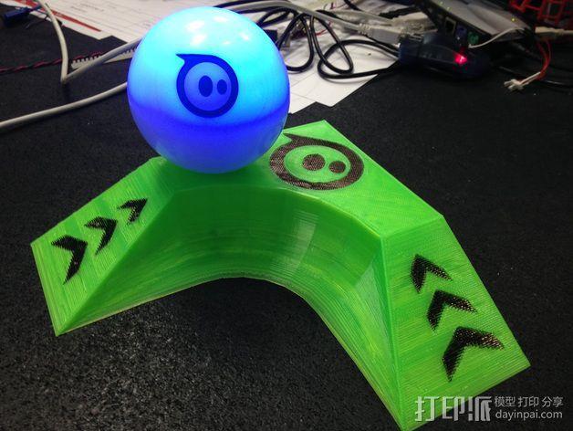 小球 L形底座 3D模型  图1