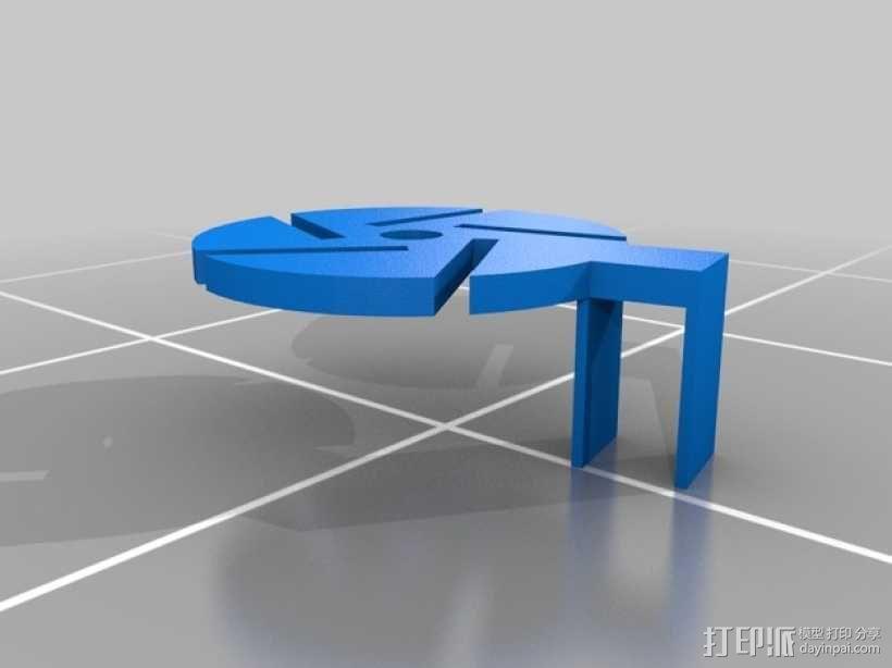 Estes Proto-x四轴飞行器 马达标签 3D模型  图2
