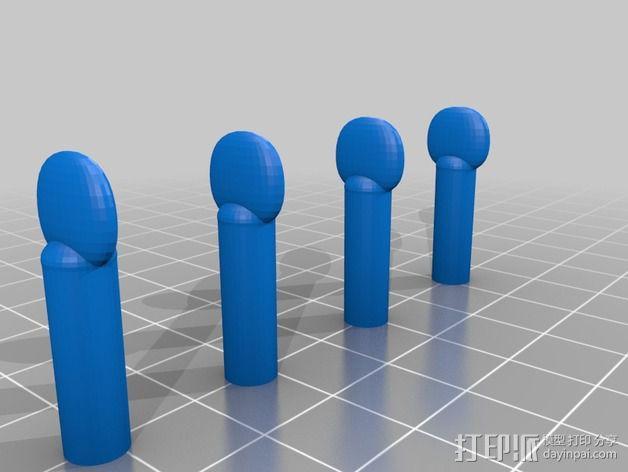 弦轴 3D模型  图2