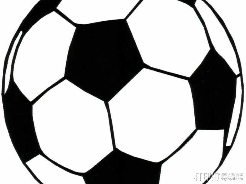足球 杯托 3D模型  图1