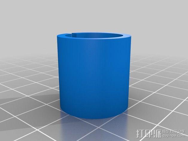 圆管配适器 3D模型  图2