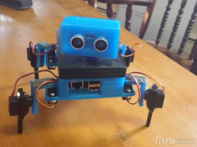 Gizmo四足机器人 3D模型  图1