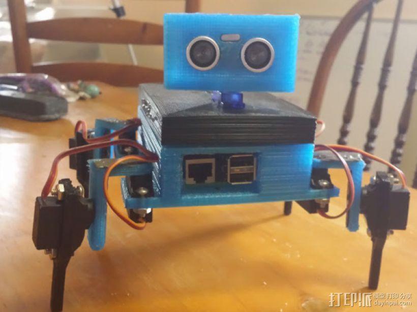 Gizmo四足机器人 3D模型  图9