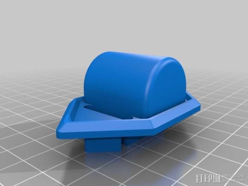 贝尔头盔 电筒固定夹 3D模型  图2