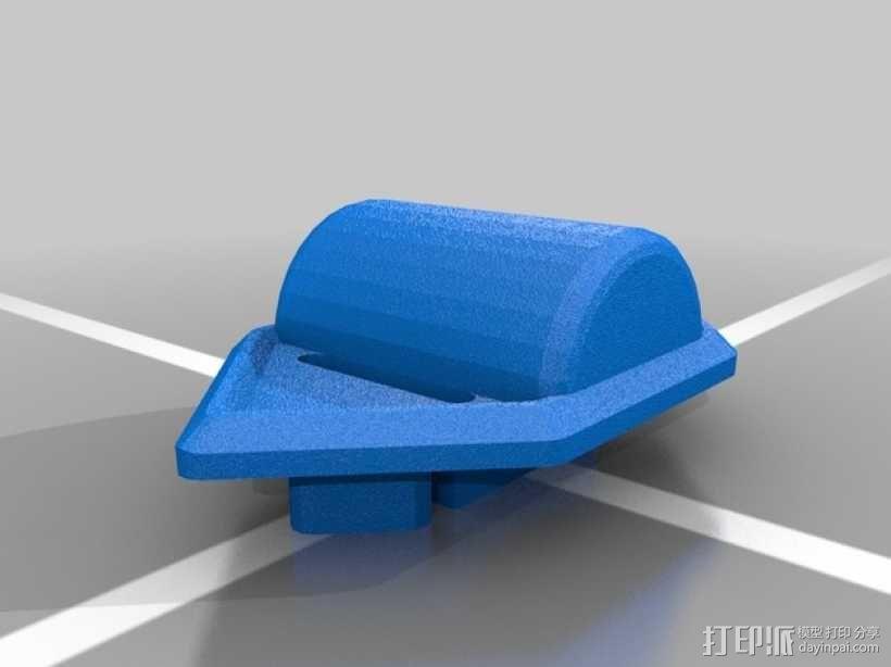 贝尔头盔 电筒固定夹 3D模型  图4