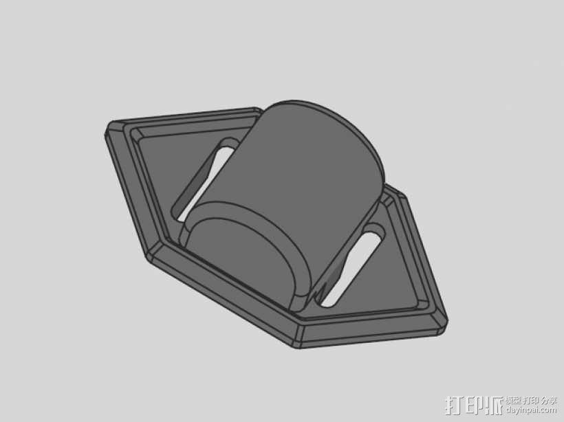 贝尔头盔 电筒固定夹 3D模型  图6