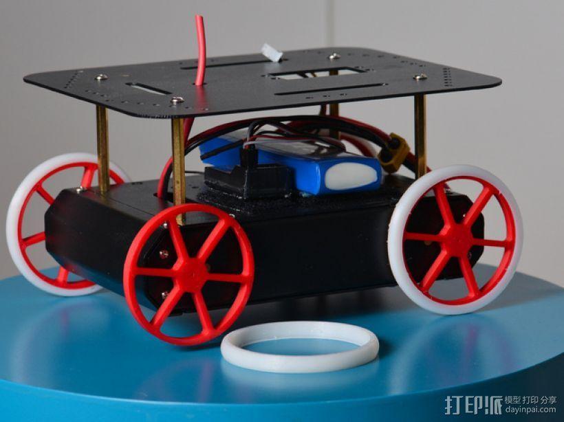 机器人 车轮和轮胎  3D模型  图1