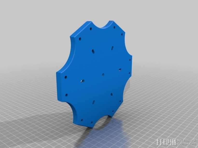 六轴飞行器 中心板 3D模型  图4