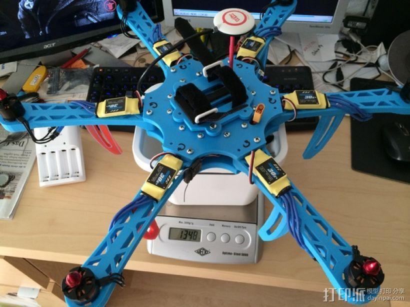 六轴飞行器 中心板 3D模型  图10