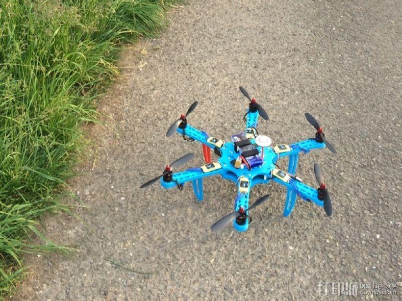 六轴飞行器 中心板 3D模型  图11