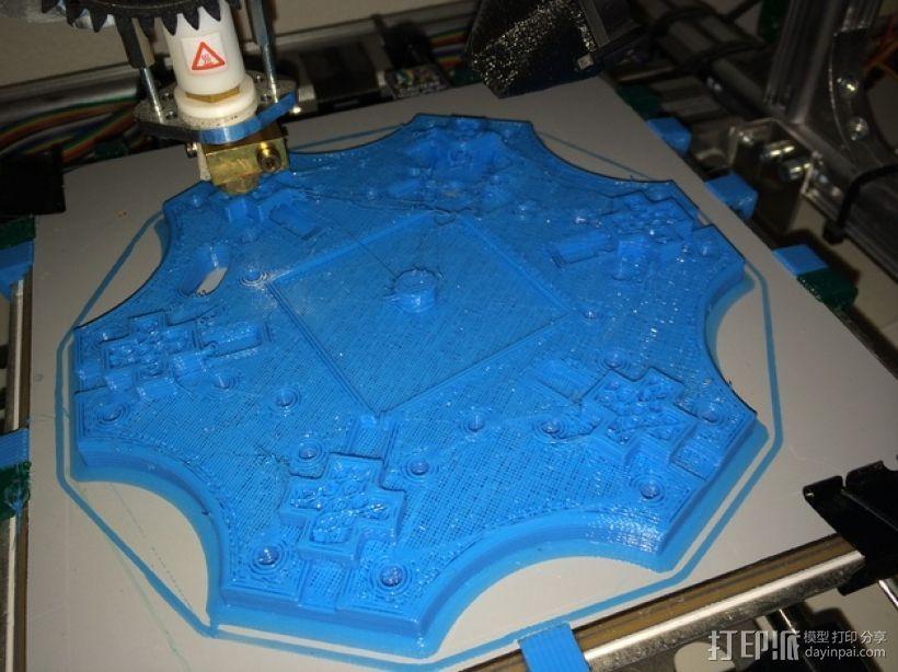 六轴飞行器 中心板 3D模型  图13