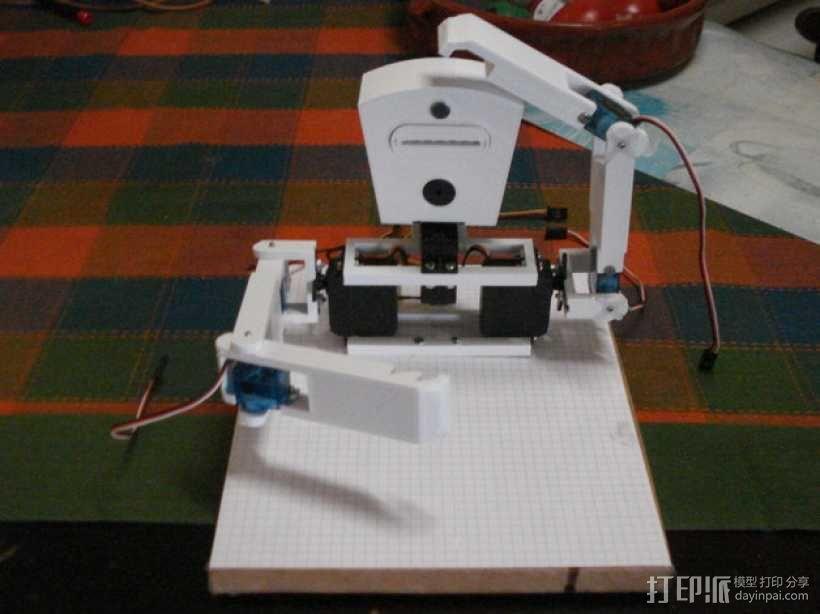 TISJ1人形机器人 3D模型  图1