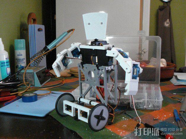 TISJ1人形机器人 3D模型  图2
