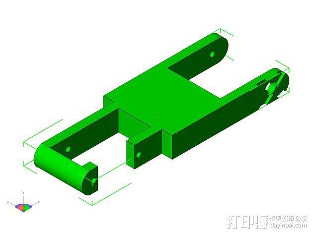 TISJ1人形机器人 3D模型  图20
