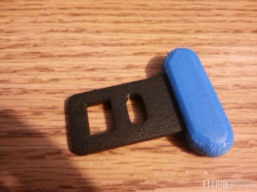 安全带 带扣 3D模型  图1