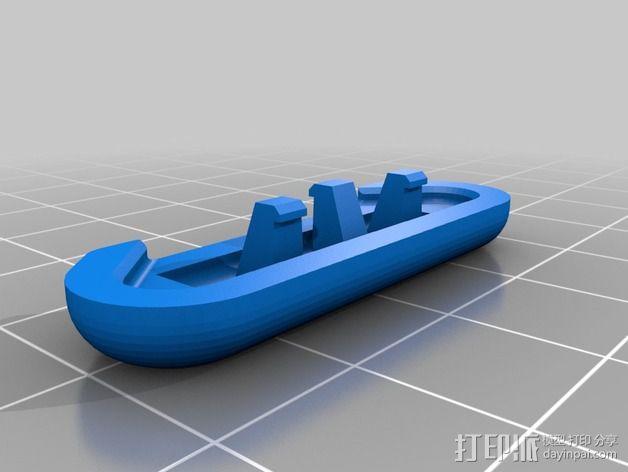 安全带 带扣 3D模型  图3