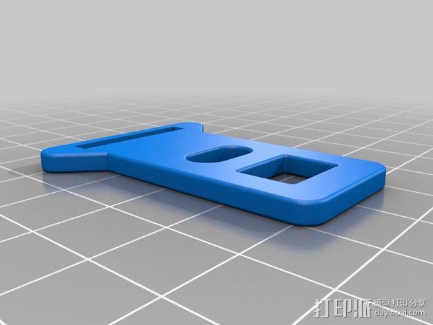 安全带 带扣 3D模型  图2