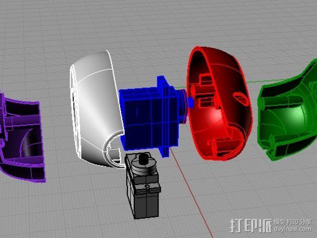 迷你摄影机支架 3D模型  图3