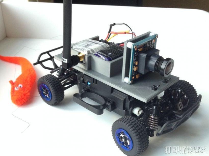 FPV遥控越野车 支架 3D模型  图3