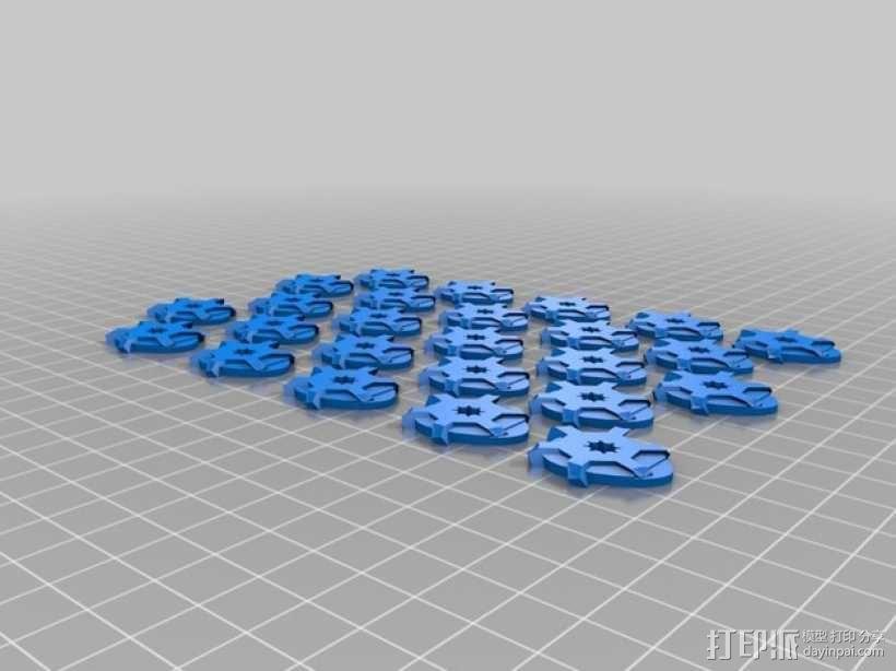 朋克风的吉他拨片 3D模型  图2