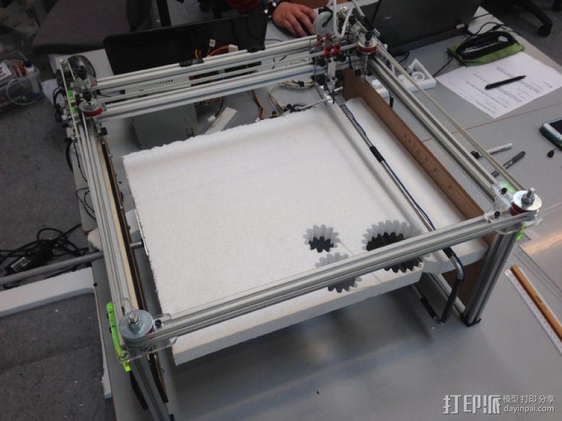 发泡胶切割机 3D模型  图1