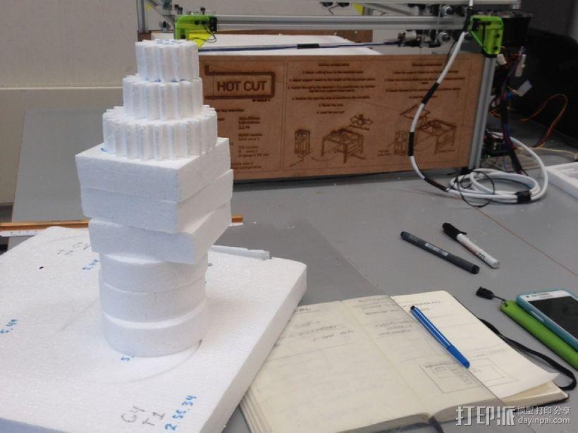 发泡胶切割机 3D模型  图4