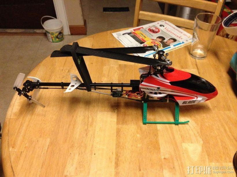 Blade 300X直升机 起落架 3D模型  图1