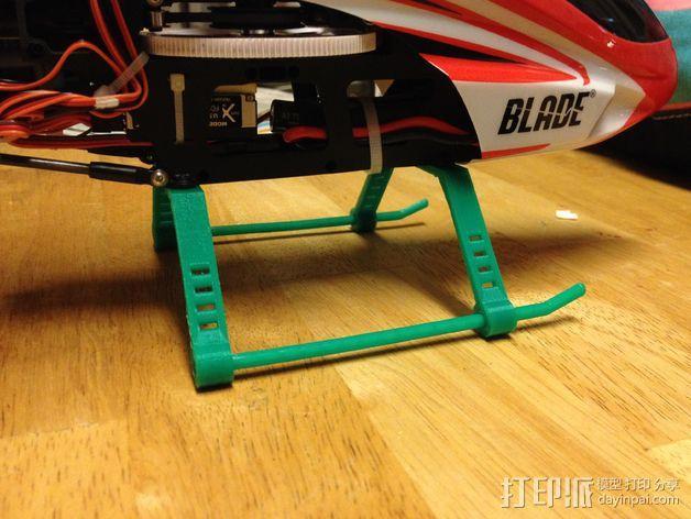 Blade 300X直升机 起落架 3D模型  图5