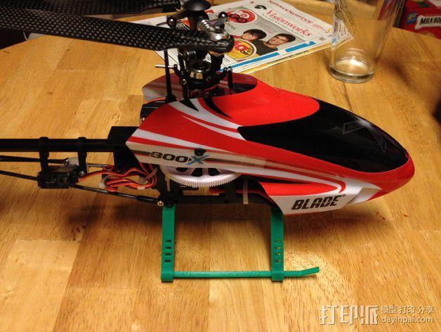 Blade 300X直升机 起落架 3D模型  图4
