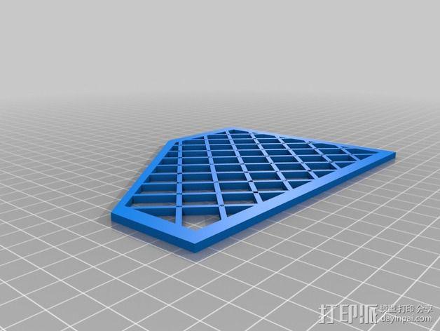 Inmoov机器人 线缆保护罩 3D模型  图2