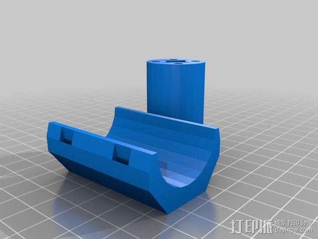 自行车 车座安装架 3D模型  图3