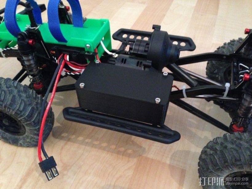 Axial SCX10遥控攀爬车 LED灯控制器 3D模型  图1