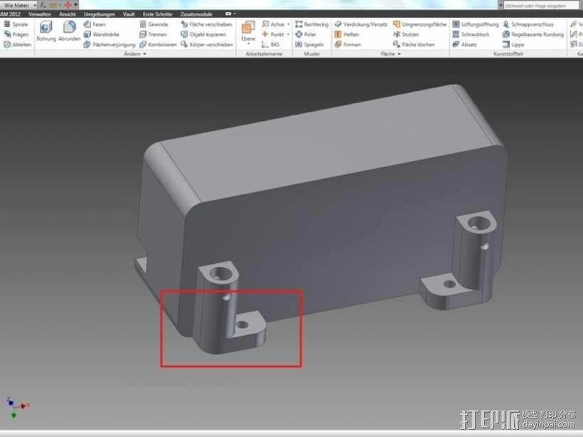 Axial SCX10遥控攀爬车 LED灯控制器 3D模型  图3
