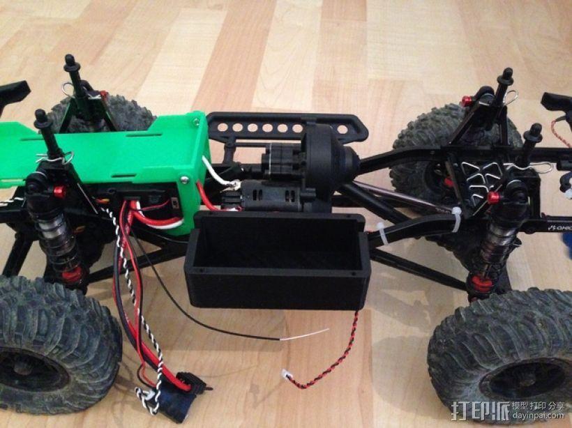 Axial SCX10遥控攀爬车 LED灯控制器 3D模型  图7