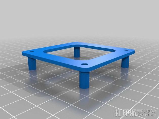 四轴飞行器 飞行控制器支架 3D模型  图2