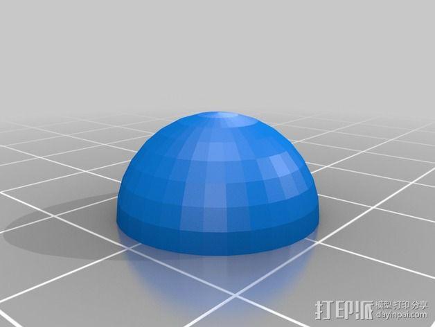 Garmin GPS模块 磁力支架 3D模型  图3