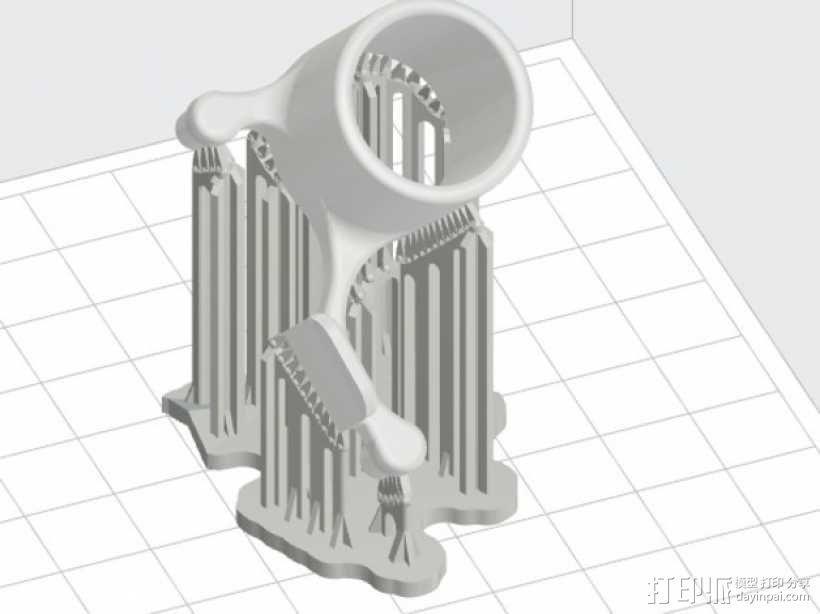 激光灯 外壳 3D模型  图7