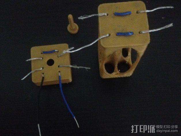 AA电池盒 3D模型  图4