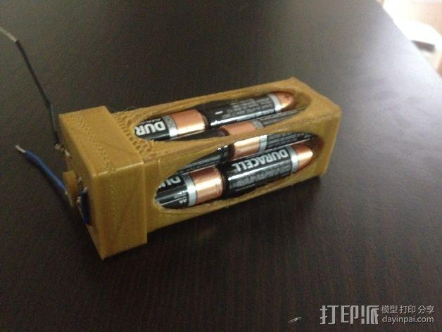 AA电池盒 3D模型  图6