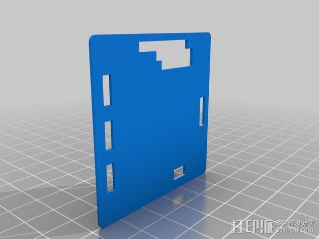 Alexmos 32字节的电路板 外壳 3D模型  图3